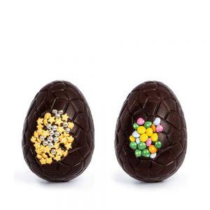2 Huevos de pascua LUXURY chocolate negro | Huevitos decorados