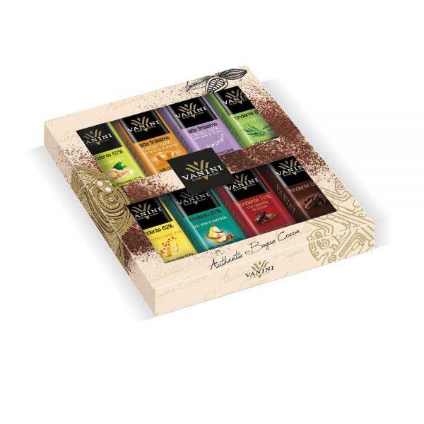 8 Chocolatinas en estuche de regalo de Vanini.