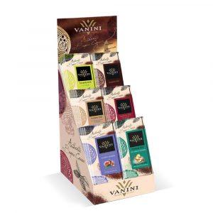 Expositor 42 tabletas de chocolate origen Vanini gourmet leon
