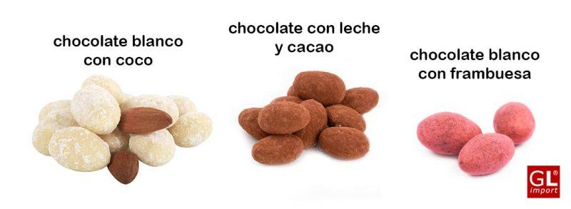 almendras con chocolate a granel