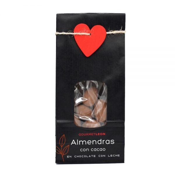 almendras con chocolate y cacao gourmet leon