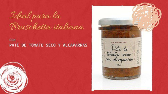 aperitivos italianos pate de tomate seco alcaparra gourmet león