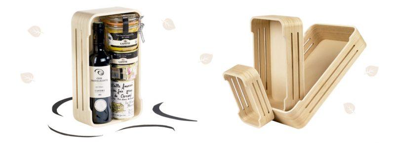 bandejas de madera para lotes regalo