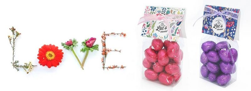 Bombones de chocolate para San Valentín