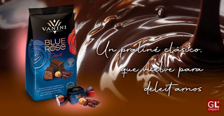 bombones praline chocolate negro blue rose vanini