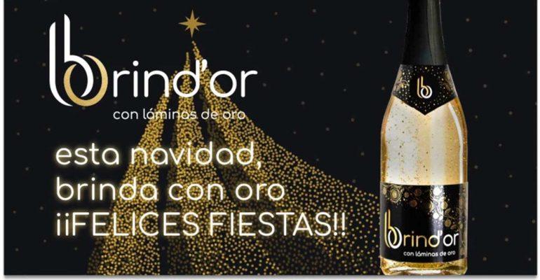 Brindis navideño con oro comestible Brind'OR
