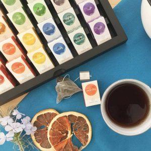 caja de te para regalar 24 te piramides biodegradable semper tea gourmet leon