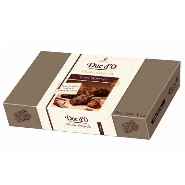 caja grande xxl trufas de chocolate negro ducdo