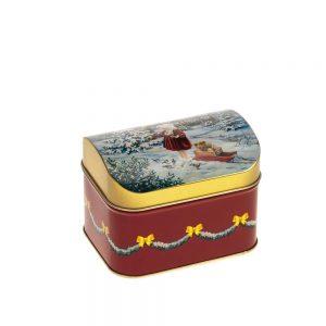 Caja metálica con bombones navidad