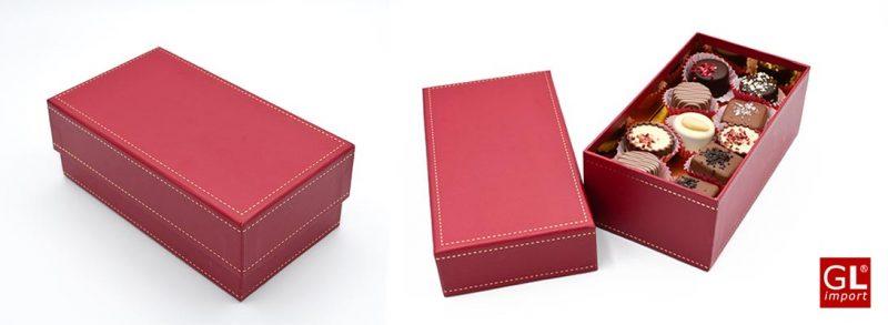 la caja roja elegante
