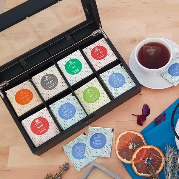 cajas para guardar te bolsa Semper tea gourmet león