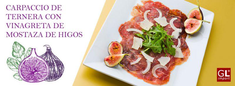 carpaccio ternera vinagreta mostaza higos gourmet leon