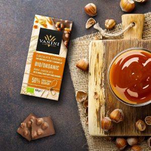 Fusión de Chocolate con Avellana y Chocolate con Caramelo Vanini Orgánico