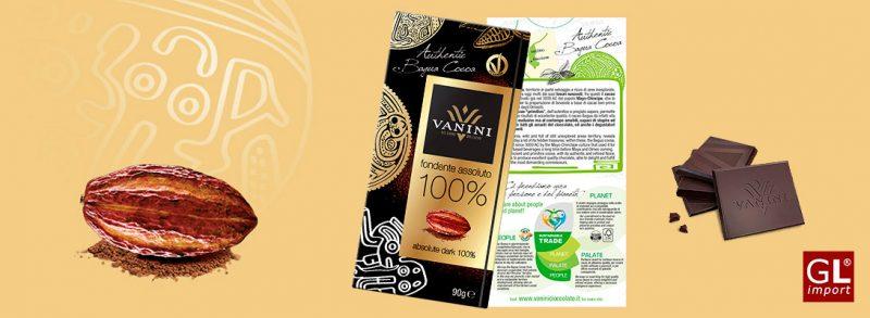 chocolate negro absoluto 100% cacao tabletas vanini