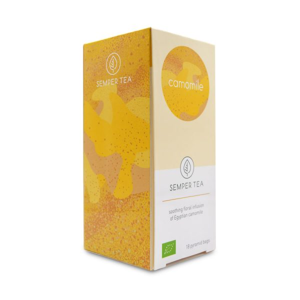 comprar infusion ecologica online manzanilla en bolsita piramidal semper tea