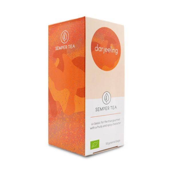 tes bio para hosteleria en piramide biodegradable darjeeling semper tea