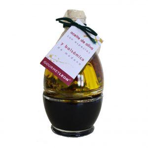 detalle original combo aceite y vinagre gourmet leon