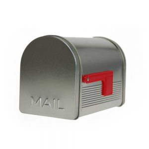 envase lata mailbox forma buzon vintage regalo para un amigo