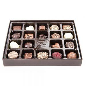 bombones artesanales caja regalo dorada chocolate limar gourmet leon