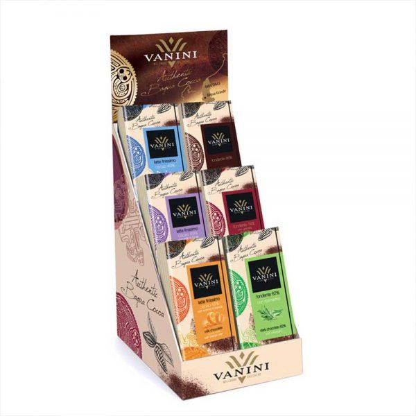 Expositor 42 tabletas de chocolate origen Vanini | Más sabores imposible
