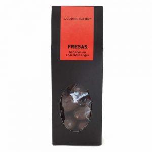 fresas en chocolate negro gourmet leon