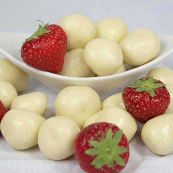 fresas con chocolate blanco gourmet leon