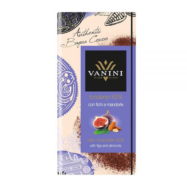 Higos con chocolate al estilo italiano con almendra en Tableta de chocolate