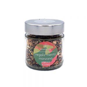 infusion de regaliz menta manzana en tarro semper tea