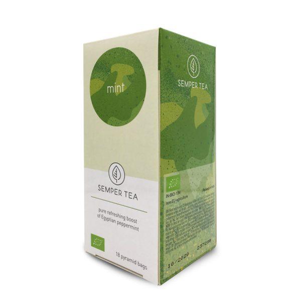 infusion menta bio comprar te online bolsita piramidal biodegradable semper tea