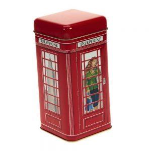 lata cabina de telefono con bombones