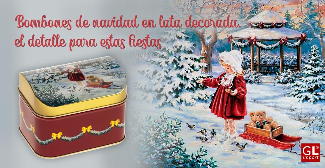 bombones de navidad lata decorada