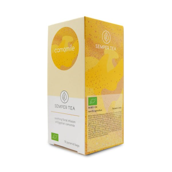 manzanilla camomila ecologica bio en bolsa piramide semper tea