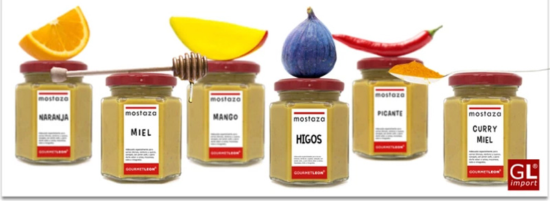 salsas de mostaza aromatizadas sabor fruta gourmet leon