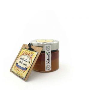 Miel con equinacea, el tomillo rojo y el ginseng en nuestro caso llamada Mielecina para las defensas.