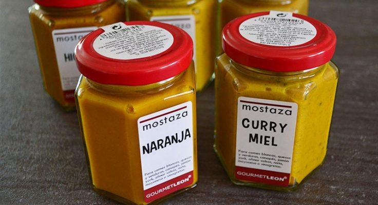 mostaza de naranja mostaza de higo mostaza de curry miel gourmet leon