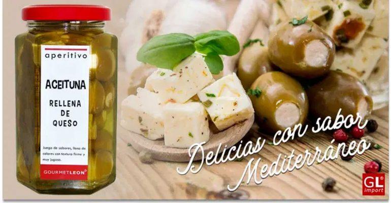 Olivas rellenas de queso una delicia con sabor Mediterráneo