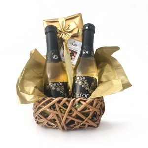 pack regalo brindis y chocolates
