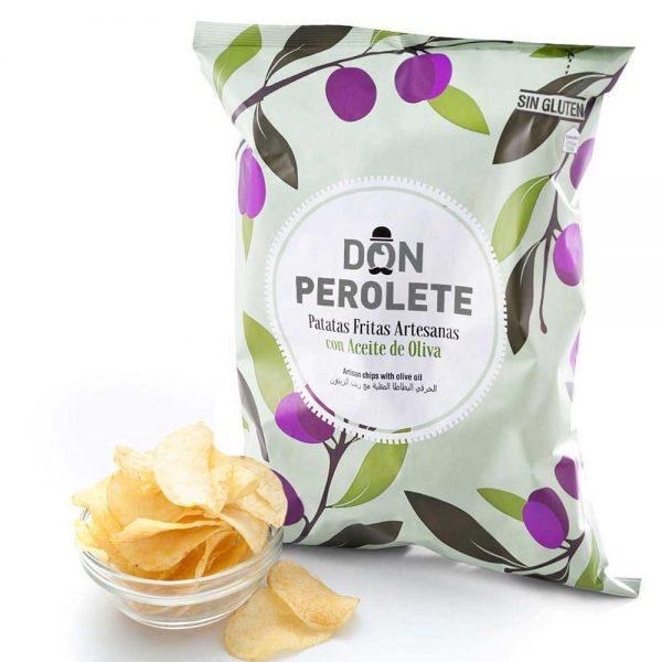 Don Perolete Patatas fritas con aceite de oliva 70 gr