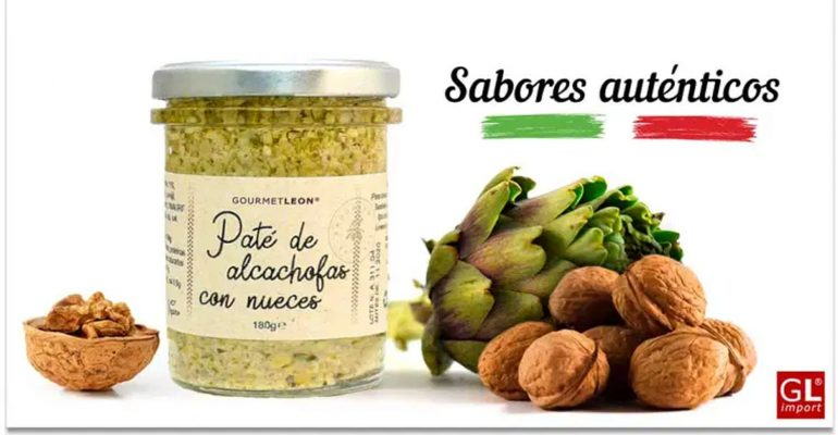 pate vegetal para dipear aperitivo merienda alcachofa nueces gourmet leon