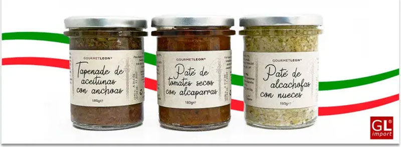 pates vegetales gourmet leon alcachofa tomate seco aceitunas