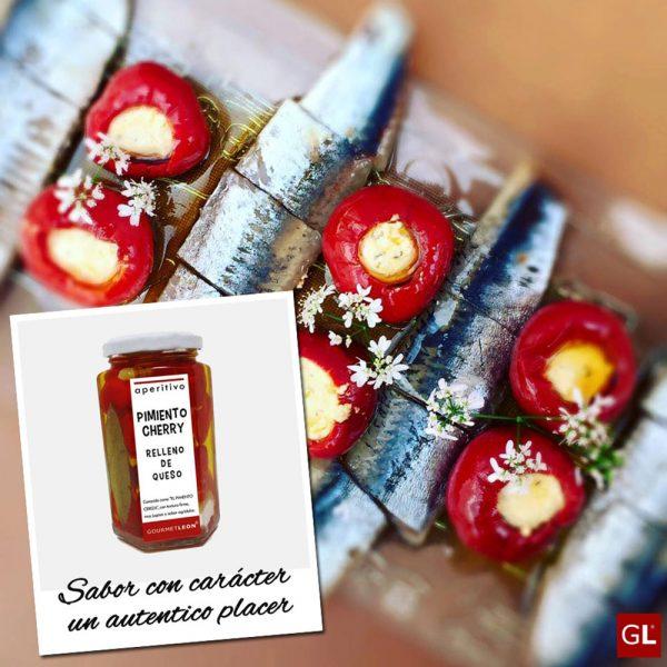 ideal acompañante para pescado pimiento cherry relleno de queso