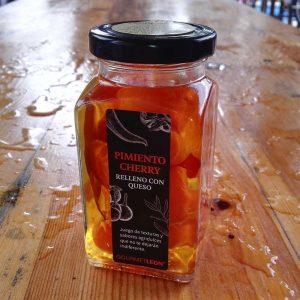 pimientos cherry rellenos de queso gourmet leon