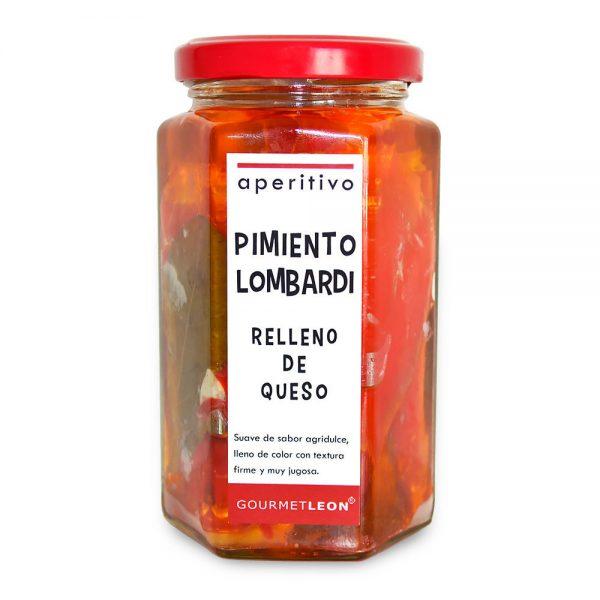 Pimientos Lombardi rellenos de queso (250 gr.)