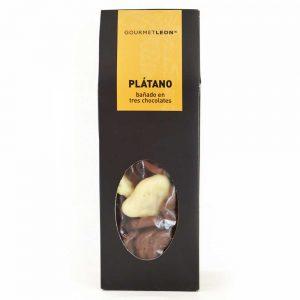platano con chocolate gourmet leon