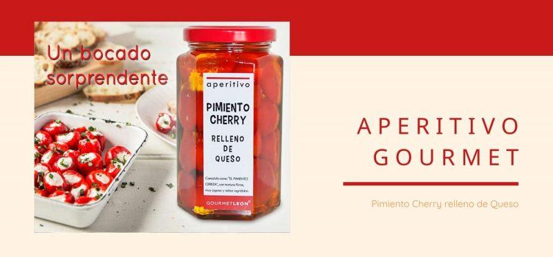 Pimiento cherry relleno en conserva para aperitivos navidad