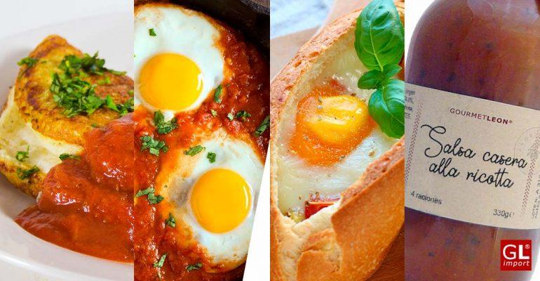 recetas con huevos salsa ricota y tomate