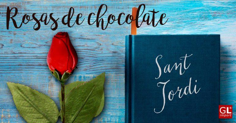 rosas rojas de chocolate belga san jordi
