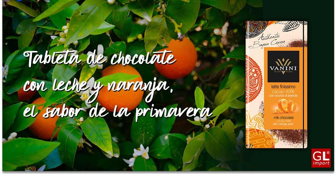 tableta de chocolate con naranja