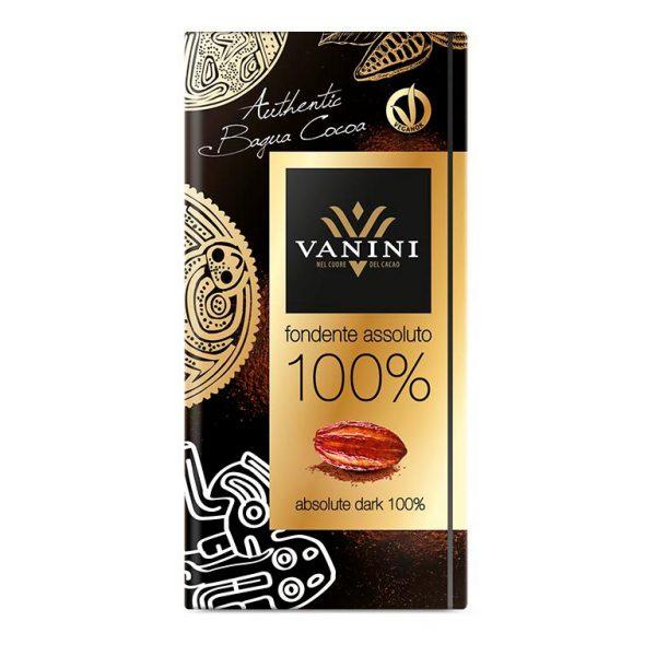 tableta chocolate 100% vanini gourmet leon