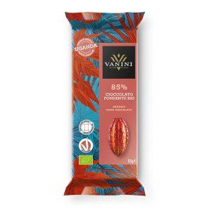 tableta chocolate negro ecologico 85 uganda vanini gourrmet leon